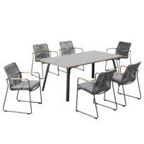 Table et chaises Bormio (7 éléments)