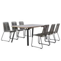 Table et chaises Symi III (7 éléments)