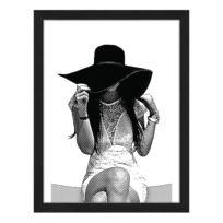 Tableau déco Young Women Wearing Hat