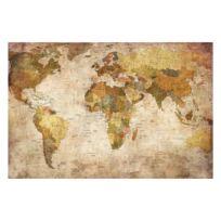 Vliesbehang Wereldkaart