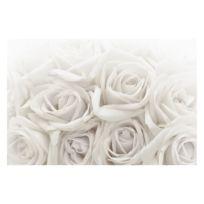 Papier peint roses blanches