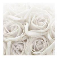 Panneau japonais roses (lot de 4)