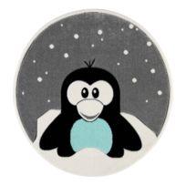 Kinderteppich Pinguin Elliot Rund