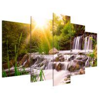 Tableau déco plexiglas Forest Waterfall