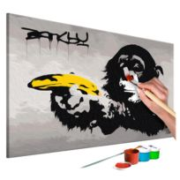 Malen nach Zahlen - Affe (Banksy)