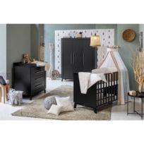 Kinderzimmer-Set Miami Black II (3-tlg.)