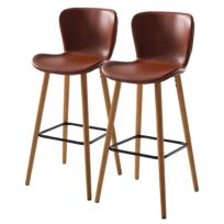Chaises de bar Livaras (lot de 2)
