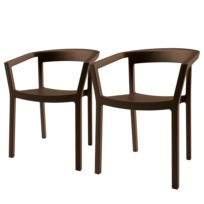 Chaises à accoudoirs Peach (lot de 2)