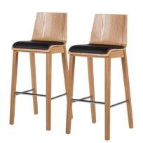 Chaises de bar Tunley (lot de 2)