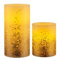 Wachskerze Golden Glitter (2er-Set)