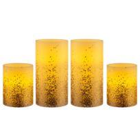 Wachskerze Golden Glitter (4er-Set)