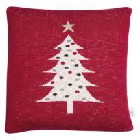 Kissenbezug Knitted Red Tree