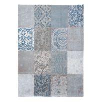 Laagpolig vloerkleed Multi Bruges Blue