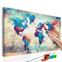 Malen nach Zahlen - Weltkarte II