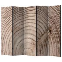 Kamerscherm Wood Grain II (set van 5)
