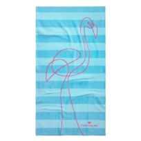 Badstoffen strandlaken Flamingo
