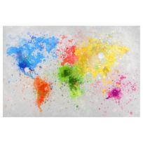 Magneetbord Bonte Wereldkaart
