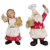 Decoratie Kerstman en Bakker (2-delig)