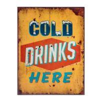 Schild Cold drinks here