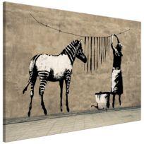 Bild Washing Zebra on Concrete (Banksy)