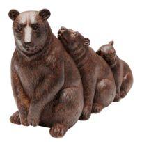 Deko Objekt Relaxed Bear Family