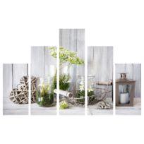 Wanddekoration Botanik (5-teilig)