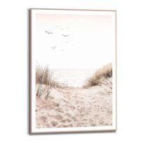 Gerahmtes Bild Dünen Strand