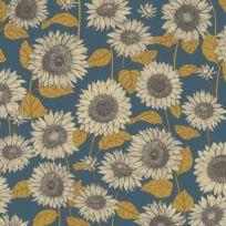 Vliestapete Vintage Sonnenblumen