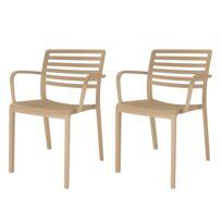 Lot de 2 chaises avec accoudoirs Lama