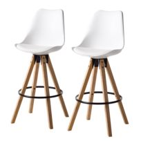 Chaises de bar Aledas I (lot de 2)