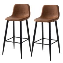 Chaises de bar Pohang (lot de 2)