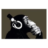 Afbeelding Schimpanse mit Kopfhörer
