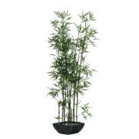 Kunstpflanze Bambus im Terrakottatopf