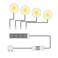 LED-powerspotjes Lopburi (4-delige set)