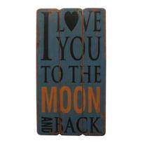 Écriteau Love to the Moon