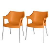 Chaises empilables Pole (lot de 2)