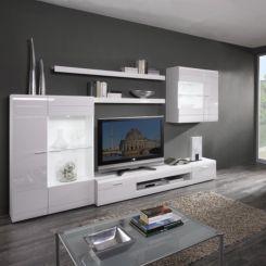 Wohnzimmermöbel modern weiß  Wohnwände | Schrankwand & Anbauwand jetzt online kaufen | home24