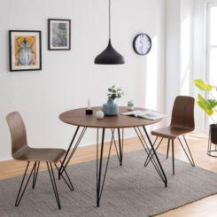 runder holztisch esszimmer, runde esstische | runde tische fürs esszimmer | home24, Design ideen