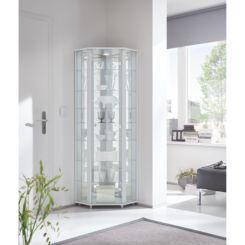 Hoek Vitrinekast Glas.Glazen Vitrinekasten Verzamel Vitrinekasten Shop Home24 Nl