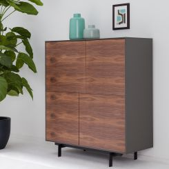 Sideboard Walnuss highboards hohe kommoden mit stauraum kaufen home24
