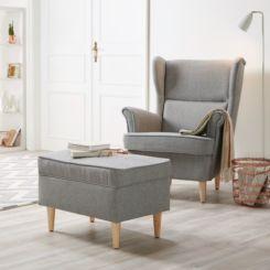 Ohrensessel modern mit hocker  Sessel - Exquisite Wohnzimmersessel online kaufen - Fashion For Home