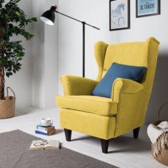 Sessel Senfgelb ohrensessel retro klassiker fürs wohnzimmer kaufen home24