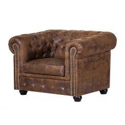 Leren Fauteuil Chesterfield.Chesterfield Stoelen Chesterfield Fauteuils Shop Home24 Nl