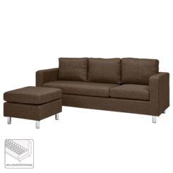 Sofa Wyke (3 Sitzer Mit Hocker) Webstoff