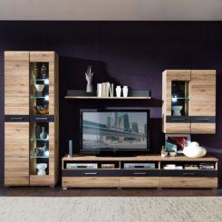 Wohnwand echtholz dunkel  Wohnwände | Schrankwand & Anbauwand jetzt online kaufen | home24