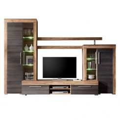 tv schrankwand future moderne wohnwand exklusive mediambel tvschrank schrankwand tv with tv. Black Bedroom Furniture Sets. Home Design Ideas