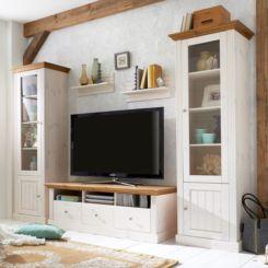 Wohnzimmermöbel weiß massiv  Massive Wohnwände | Gemütlichkeit und Flair mit Massivholz | home24
