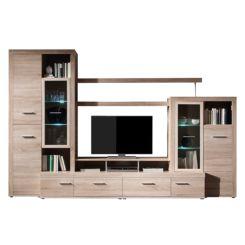 Moderner Wohnzimmerschrank Mit Glasturen Und Led Beleuchtung | Wohnwande Schrankwand Anbauwand Jetzt Online Kaufen Home24