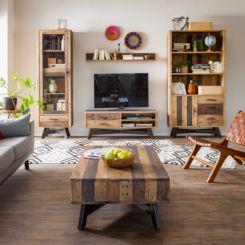 wohnwand holz dunkel, wohnwände | schrankwand & anbauwand jetzt online kaufen | home24, Design ideen