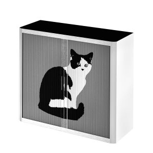 Rollladenschrank easyOffice Pop Art Cat